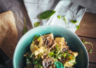 Mushroom and Parmesan Pappardelle by The Lincolnshire Chef