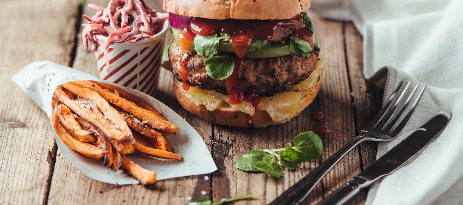 Lincolnshire Sausage Burger by Steven Bennett
