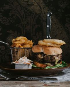 Steak Burger at healing manor hotel, Grimsby by Steven Bennett The Lincolnshire Chef