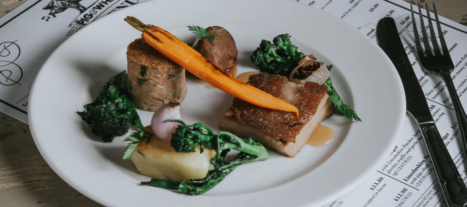 Belly and Cheek of Pork by Steven Bennett The Lincolnshire Chef at Healing Manor Hotel near Grimsby