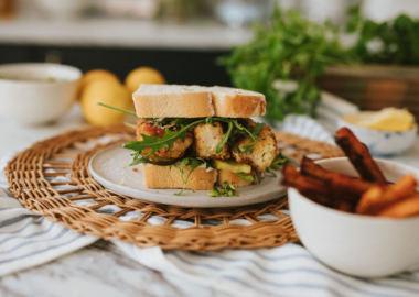 Cod Fish Finger Sandwich - The Lincolnshire Chef recipe